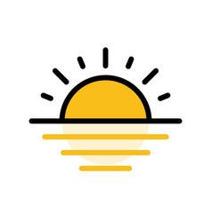 Sunrise sunset ramadan related filled icon vector