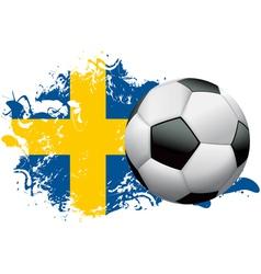 Sweden Soccer Grunge vector