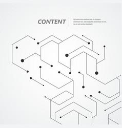 Technology hexagons structure vector