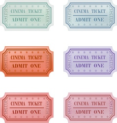 Ticket design set vector image