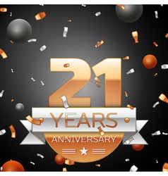 Twenty one years anniversary celebration vector
