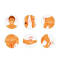 types of injuries vector image