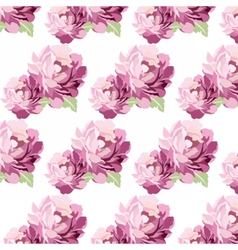 Watercolor Pink flowers Card vector image
