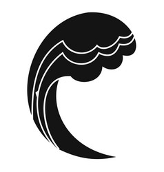 wave water ocean icon simple black style vector image
