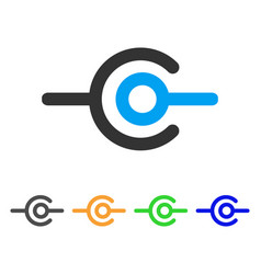 Wire connection icon vector