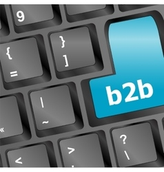 word b2b on digital keyboard vector image