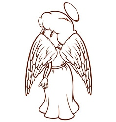A plain sketch of an angel vector image vector image