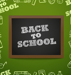 Back to scholl concept Education elements clip-art vector image vector image