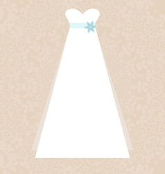 Bridal Dress vector image