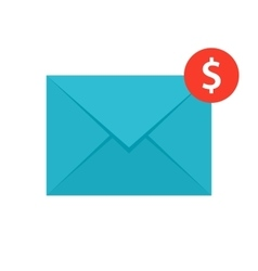 Email Money Transfer Icon vector image