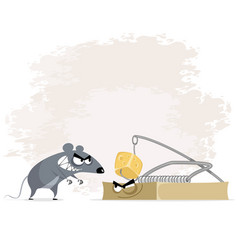 rat and mousetrap vector image