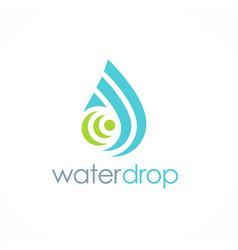 water drop shape tecnology logo vector image