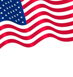 Flags USA Waving Wind and Ribbon vector image vector image