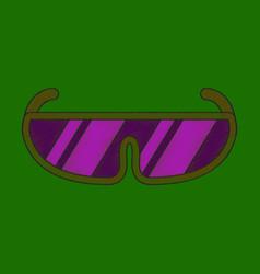 flat shading style icon ski goggles vector image vector image