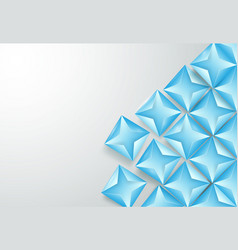 abstract blue triangles background vector image