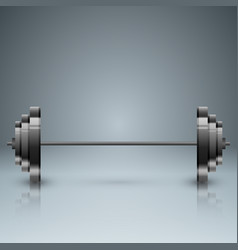barbell infographic with five origami paper vector image