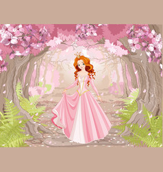 beautiful red haired princess vector image vector image