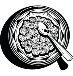 cereal bowl vector image