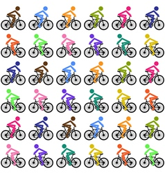Cycling background vector image vector image