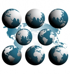 earth over continents vector image vector image