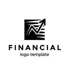 financial logo design template good progress of vector image vector image
