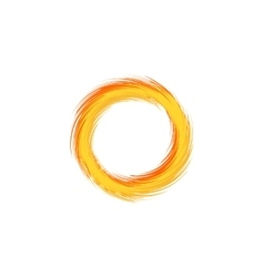 Fire ring Flaming sun vector image