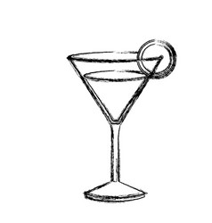 monochrome sketch silhouette of drink cocktail vector image