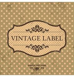 Vintage Label Design with Retro Background vector image vector image