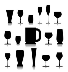 a glass of drink vector image vector image
