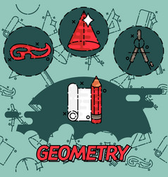 geometry flat concept icons vector image