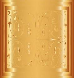 Gold Floral Luxury Ornamental Pattern Background V vector image vector image