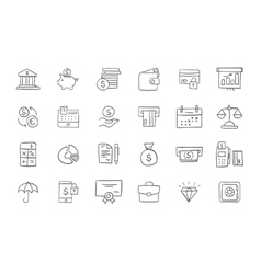 Set of finance and business icons vector image vector image