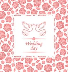 wedding rose vector image