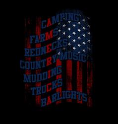 America - flag text vector