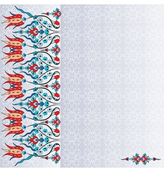 Antique ottoman turkish pattern design ninety six vector image