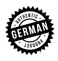 Authentic german product stamp vector