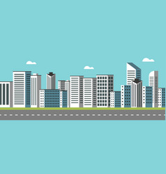 background geometry flat city landscape 03 vector image