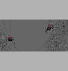 Background with black widow spiders vector
