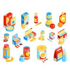 Bafood color set vector