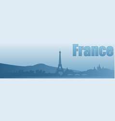Banner with the image of the sights of france vector