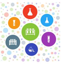 Beaker icons vector