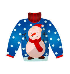 Beautiful cute christmas sweater with festive vector