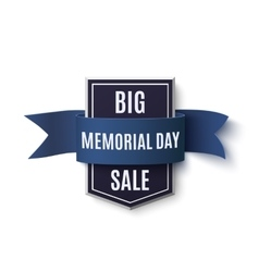 Big Memorial Day sale background vector image