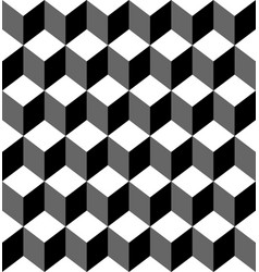 Black and white geometric seamless vector