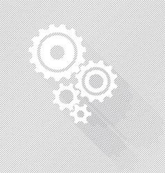 Black gears set vector