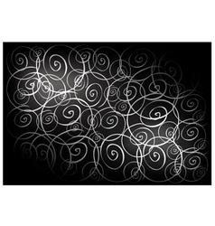 Black Vintage Wallpaper with Spiral Pattern vector image