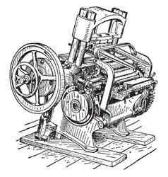 blocking machine vintage vector image