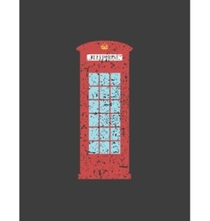 British telephone box London vintage style word vector
