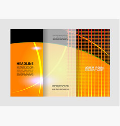 brochure design template trifold abstract vector image