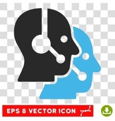 Call Center Operators Eps Icon vector